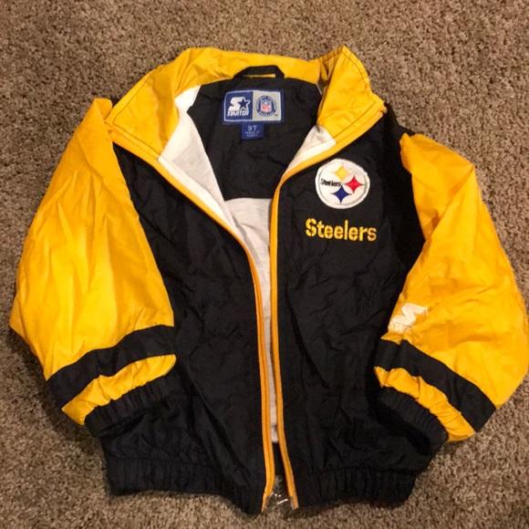 best loved 855df 9822b Vintage Steelers Windbreaker Jacket